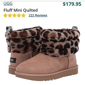 Like brand new, UGG fluff yeah leopard boots size7